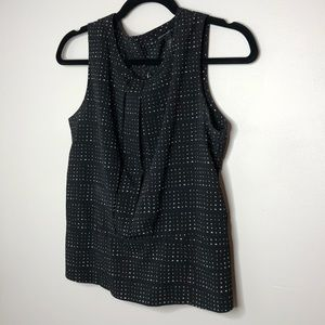 Banana Republic black & white dot sleeveless top
